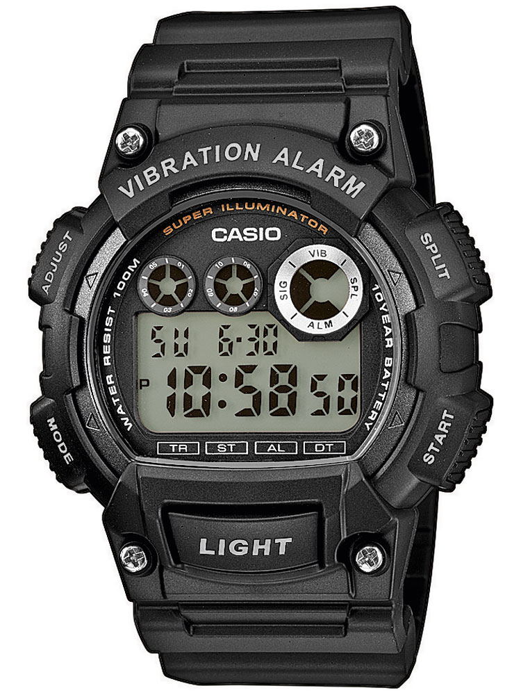 CASIO W-735H-1AVEF Collection 47mm 10ATM