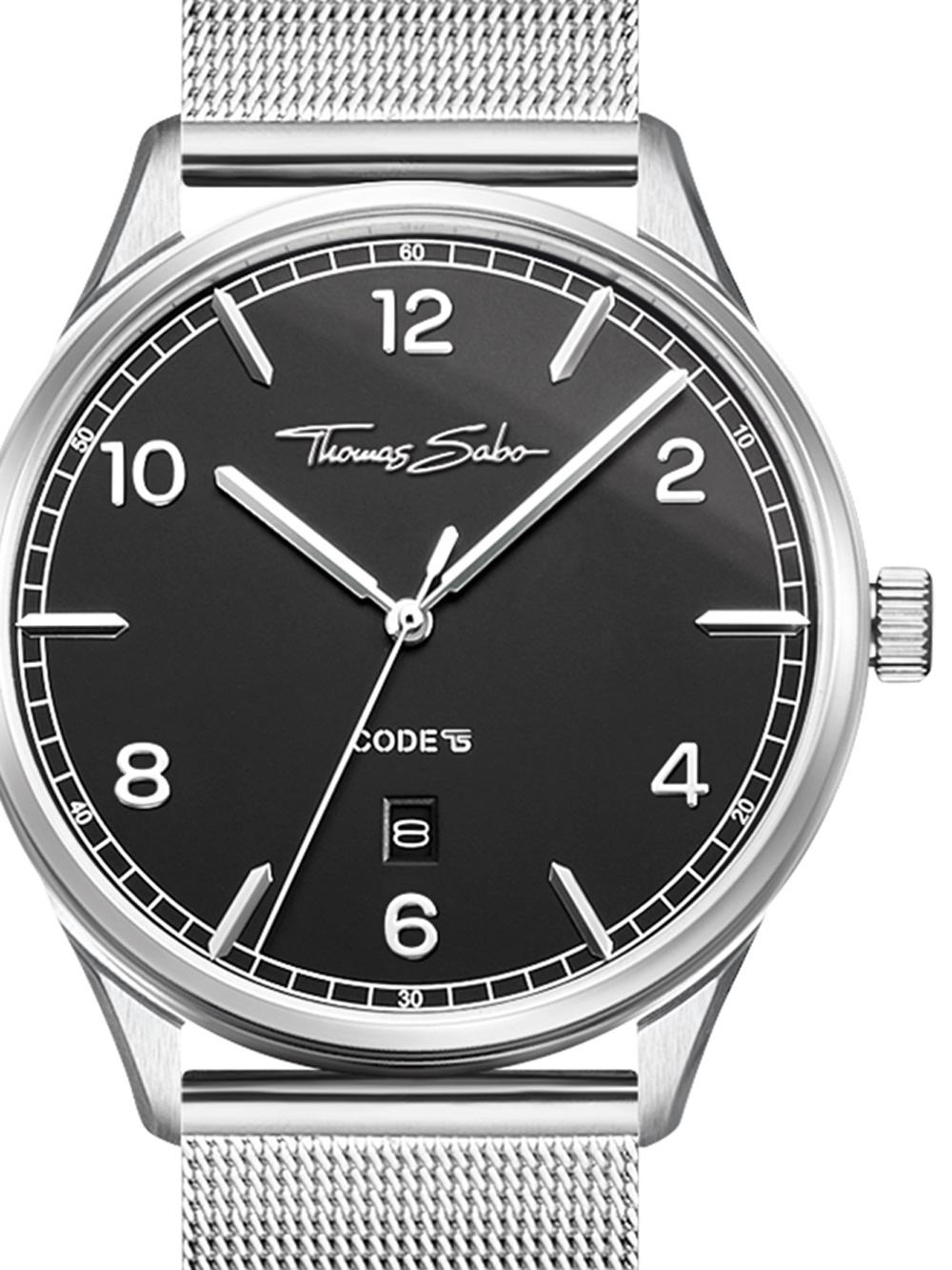Thomas Sabo WA0339-201-203 Code TS Silber Schwarz Unisex 40mm 3ATM