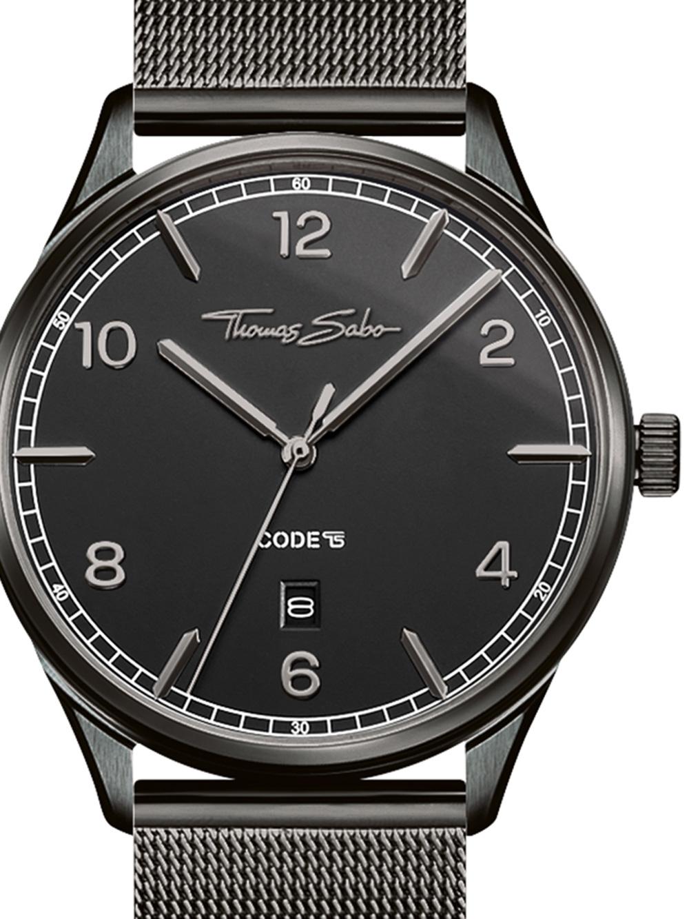 Thomas Sabo WA0342-202-203 Code TS Schwarz Unisex 40mm 3ATM